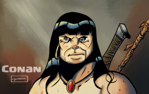 Conan head sketch